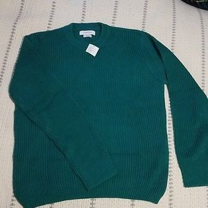 Urban Outfitters Green 100% Cotton Knit Sweater